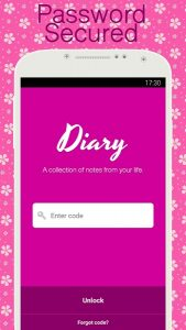 Diary with lock