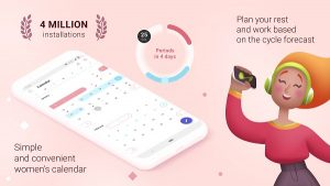 Period tracker for women. Ovulation calculator